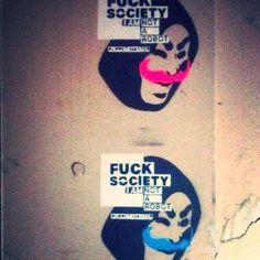 #streetart #streetartnews #puppetmaster #fucksociety street art, puppet master, fuck society