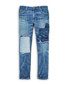 Ralph Lauren Childrenswear Girls' Patchwork Denim Jeans - Sizes 7-16 | Bloomingdale's