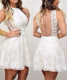 Lace Prom Dress,Mini Prom Dress,White Prom Dress,Fashion Homecoming Dress,Sexy Party Dress, New Style Evening Dress