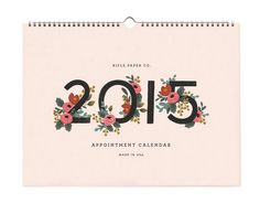 2015 Calendar by Rifle Paper Co.