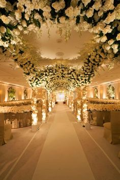 Styled the Aisle | Wedding Ceremony Ideas IMAGE CREDITS { Floral Design:  Preston Bailey // via Cosmopolitan}