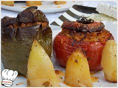 Υπερωχα μυρωδατα γεμιστα λαχανικα με ρυζι,ενα φαγητο που τρωγεται συνηθως το καλοκαιρι που τα λαχανικα ειναι στην εποχη τους. Απολαυστε τα!!!