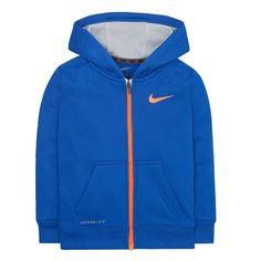 Nike Boys Preschool Elite Stripe Hoodie Size:5 Blue