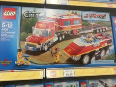 Lego City Fire transporter -- NOW OFF THE LIST