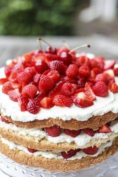 Erdbeer Lagkage