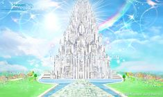 Heaven's story through the pictures > A Transparent Castle Heaven Pictures, Jesus Pictures, Nova Jerusalem, Beautiful World, Beautiful Places, Cartoon Garden, Light Angel, Guardian Angels, Jesus Christ
