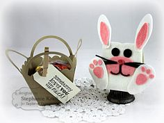 Sack It Bunny and Basket Gift Set by Stephanie Kraft #GiftGiving, #Easter, #TreatHolders, #SackIttoYou