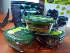 Plastic Lunch Boxes, Lunch Box Set, Easy Indian Recipes, Vegetable Rice, Cup Of Rice, Fruit In Season, Glass Boxes, Pretty Green, Carry Bag