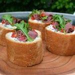 Deli Beef Pockets with Garden Vegetable Spread Recipe