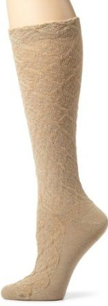 2 Pk BETSEY JOHNSON Trouser Socks Ladies 9-11 Blue Daisy