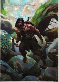 Conan by Joe rubinstein after Greg Manchess Comic Art