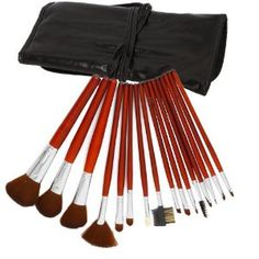 Professional 16 Pcs Makeup Make up Cosmetic Brushes Set Kit Eyeshadow Eyelash Eyeliner Eyebrow Lip Powder Blush Face Brush with Black Bag Case Pouch by Crazy Cart. $10.41. Features: 1. The makeup brush set is easy to carry and use 2. With superior-quality, the makeup brushes in the set will not irritate your skin 3. Durable unique packaging can well protect your makeup brushes 4. It is an important beauty essential for you 5. Handle made of plastic and aluminum 6. It is s...