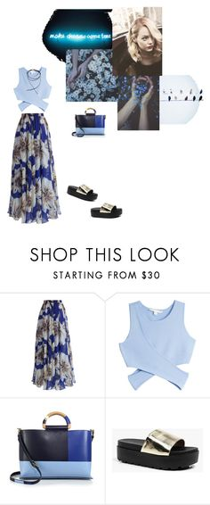 """""""{(SUMMER BLUE)}"""" by nadia-van-niekerk ❤ liked on Polyvore featuring Chicwish, Jonathan Simkhai, Tory Burch, Boohoo and Blue"""