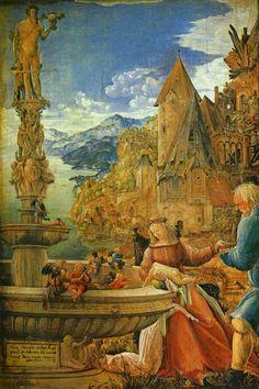 Landschaftsmalerei renaissance  Donauschule – Kreuzigung Christi von Albrecht Altdorfer ...