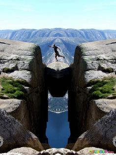 Kjerabolten rock, Norway