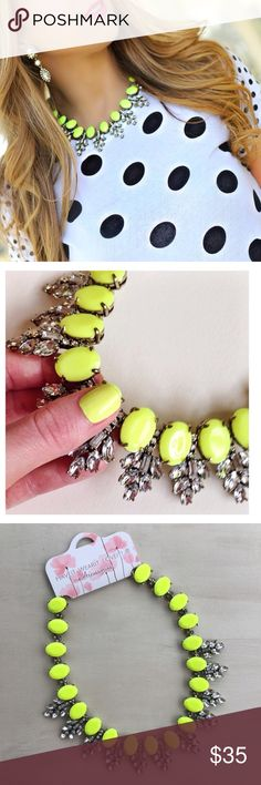 Neon & Glam statement Necklace Bright Neon statement Necklace nwt retail! Excellent quality! Hwl boutique Jewelry Necklaces
