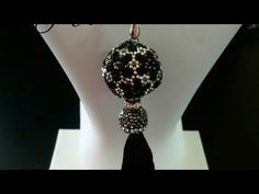 Beaded Bead, Necklace Tutorial, Ball Necklace, Micro Macrame, Beading, Steampunk, Drop Earrings, 3d, Make It Yourself