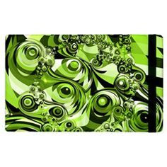 Retro Green Abstract Apple iPad 3/4 Flip Case from Stuff Or Something