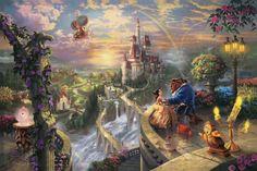 Quadros inspirados na Disney por Thomas Kinkade | http://nathaliakalil.com.br/quadros-inspirados-na-disney-por-thomas-kinkade/