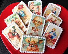 VALENTINE'S Day Children WAFER PAPERS for Cookies - Edible Images. $8.00, via Etsy.