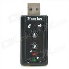 USB Virtual 7.1 Channel External Sound Card Adapter $3.99