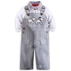 101 Dalmatians Dungaree and Shirt Set for Baby Boys