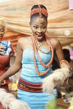 Igbo Traditional Wedding Bride, Groom and Bridesmaids Inspiration for Gorgeous attires, coral beads and Igbo Wedding, Wedding Bride, Bride Groom, Wedding Ideas, Princess Wedding, Wedding Gowns, Nigerian Wedding Dress, Nigerian Bride, African Traditional Wedding