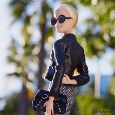 """""""Shining light on the details of this great leather jacket! #barbie #barbiestyle"""""""