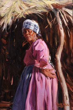 """Hererro Woman"" Namibia, Africa by Scott Burdick"