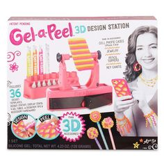 Design and create your own accessories with Gel-a-Peel! It's so easy and fun! The Gel-a-Peel Design Station comes with 4 gel color tubes, including an . Crafts For Girls, Toys For Girls, Arts And Crafts, Cute Birthday Ideas, Birthday Gifts, Toys R Us, Craft Sale, Craft Kits, 3d Design
