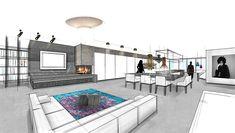 DG- Wohnung | Mayr & Glatzl Innenarchitektur GmbH Detached House, Real Estate, Floor Layout, Interior Designing, Mockup, Sketches