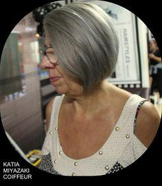Katia Miyazaki Coiffeur - Salão de Beleza em Floripa: corte chanel - platinado - blonde - silver - cabel...