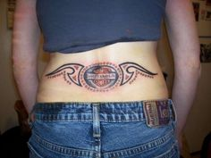 Groovy Harley Davidson Tattoos Designs : Harley Davidson Tattoo On ...
