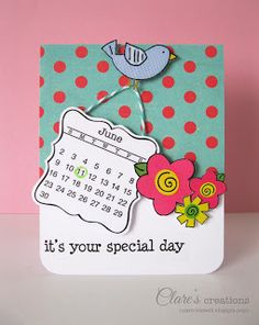 SRM Stickers: Calendar Card by Clare