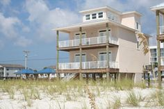 Island Palms Gulf Shores Gulf Front Vacation House Rental.