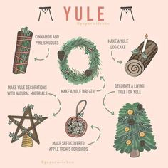 Yule is fast approaching. A few ideas for what you can do to celebrate yule. Credit to owner x Wiccan Spell Book, Wiccan Witch, Wiccan Spells, Magick, Pagan Yule, Spell Books, Magic Spells, Witch Rituals, Wiccan Art
