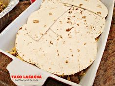 Taco Lasagna – Can't Stay Out of the Kitchen Homemade Guacamole, Homemade Salsa, Homemade Taco Seasoning, Mexican Lasagna Recipes, Taco Lasagna, Beef Sauce, Traditional Lasagna, Cup Of Cheese, Glass Baking Dish