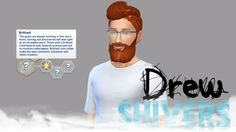 The Sims 4 Blogger • drewshivers:   Custom CAS Trait: Brilliant  It's...