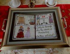 Jane Austen / Pride and Prejudice Sampler Gift for Sister in Law  - Aşk ve Gurur Örnekleme Tablosu