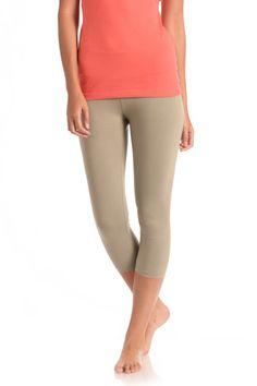 5b18d3117bf37f Basic Capri Legging in White Sage Capri Leggings, Capri Pants, Yoga Wear,  Organic