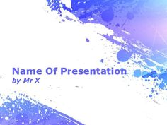 Plantilla Powerpoint de Diapositiva Salpicaduras púrpuras de la pintura