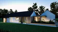 A pair of modern homes on adjacent sites, both unique, but designed to compliment each other and featuring a lovely mix of natural materials. House Designs Ireland, Bungalow Extensions, House Cladding, Rural House, Architect House, House Layouts, Interior Design Living Room, Modern Farmhouse, Modern Homes