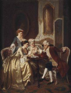Petrus Theodorus van Wijngaerdt (Rotterdam 1816-1893 Haarlem) | The card game