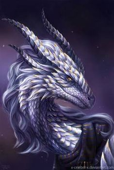 Dragon Portrait Commission by x-Celebril-x on DeviantArt - Blue Majesty by x-Celebril-x on DeviantArt - Mystical Animals, Mythical Creatures Art, Magical Creatures, Fantasy Creatures, Fantasy Wesen, Fantasy Beasts, Fantasy Art, Dragon Images, Dragon Pictures