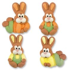 Cute Easter Bunnies for decorating your Easter cakes and cupcakes. Available from our online store. Easter Bunny Cupcakes, Easter Cookies, Easter Cake, Sugar Cookies, Cupcake Toppers, Cupcake Cakes, Bugs Bunny, Bunnies, Buy Cake