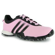 Adidas signature PAULA 2.0 Pale Pink Black Black 6 Medium Ladies Golf Shoes ...