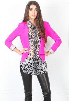 Evelyn Blazer in Hot Pink - designed by Kate Frances $341.00