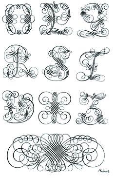 Manoel Andrade de Figueiredo Decoratief Versaal alfabet, Lissabon, 1722