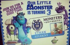 Monster University invitation! Custom made!!!