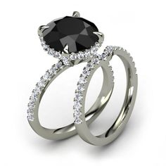 Black Diamond Engagement Rings--Plus 5 Fun Facts on the Dark Beauties: 2. Yup, You Can Buy Carrie Bradshaw's Ring.